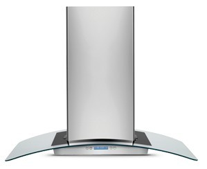 curving glass for cooker hoods